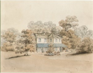 watercolour of St Ann's Hill by J. Hassell, 1822
