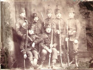 Chertsey Volunteers (15th Surrey Rifle Volunteers), c. 1870.