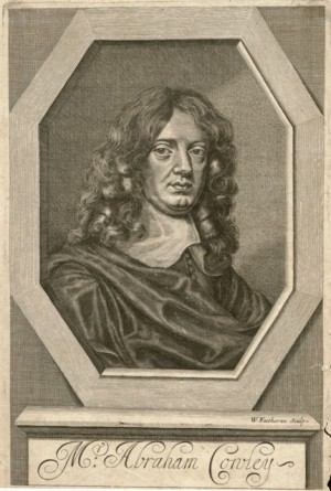 Engraving of Abraham Cowley by W. Faithorne