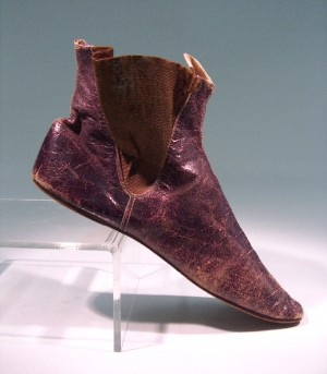 Stepping through history: Elastic sided woman's boot, late 1840s
