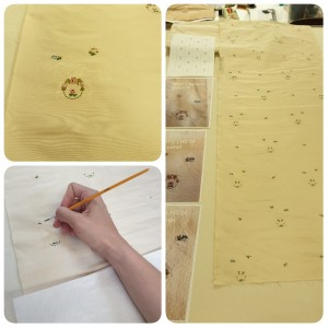 Re-creating the pattern from the original fabric