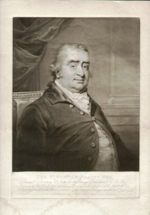 Engraving of Charles James Fox, after a drawing by Charles Turner, 1808